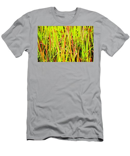 Red Green And Yellow Grass Men's T-Shirt (Athletic Fit)