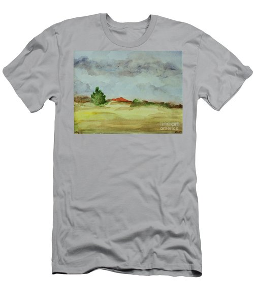 Red Hill Landscape Men's T-Shirt (Athletic Fit)