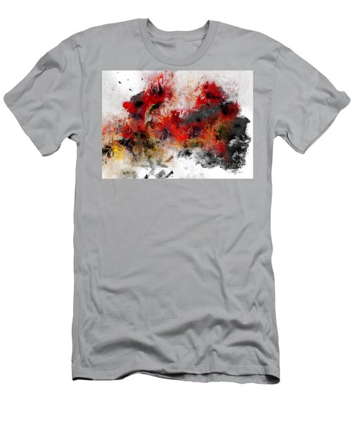 Men's T-Shirt (Athletic Fit) featuring the photograph Red Hope  by Claire Bull