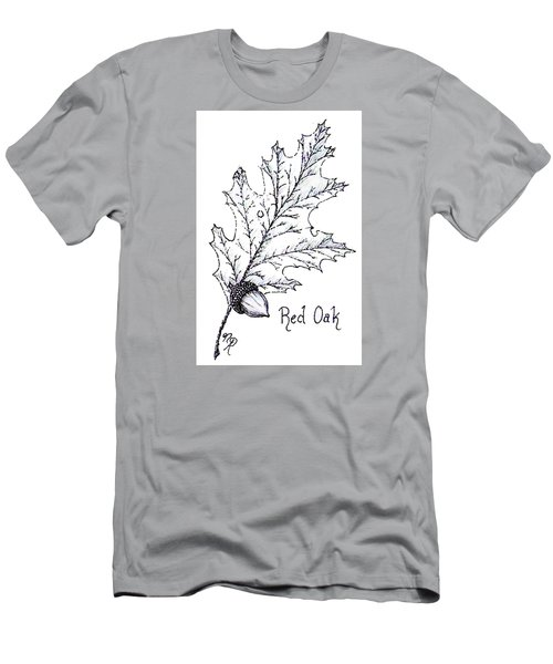 Red Oak Leaf And Acorn Men's T-Shirt (Athletic Fit)