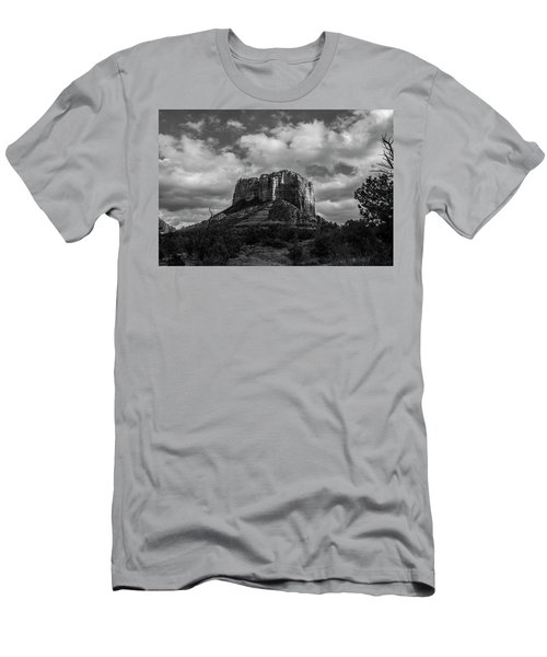 Men's T-Shirt (Slim Fit) featuring the photograph Red Rocks Sedona Bnw 1 by David Haskett