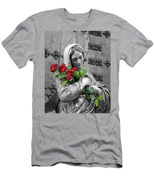 Red Roses Men's T-Shirt (Slim Fit) by Munir Alawi