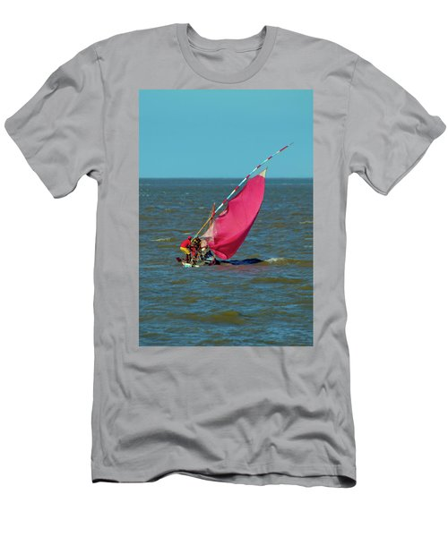 Red Sail Near Maputo Men's T-Shirt (Athletic Fit)