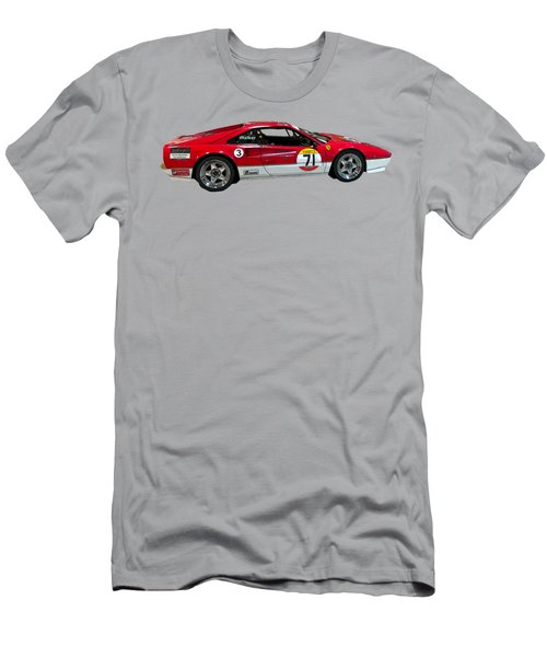 Red Sports Racer Art Men's T-Shirt (Athletic Fit)