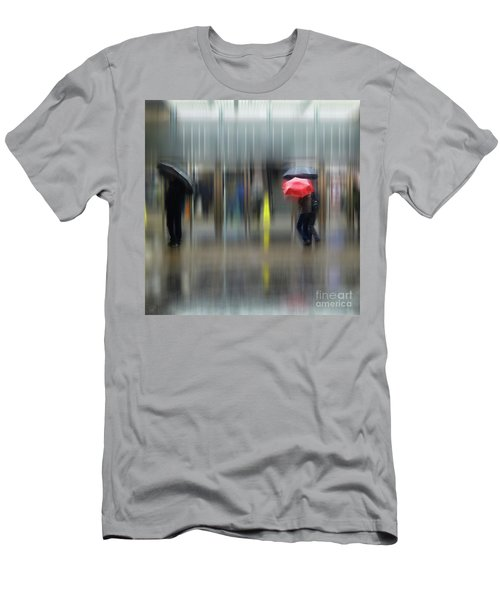 Men's T-Shirt (Athletic Fit) featuring the photograph Red Umbrella by LemonArt Photography