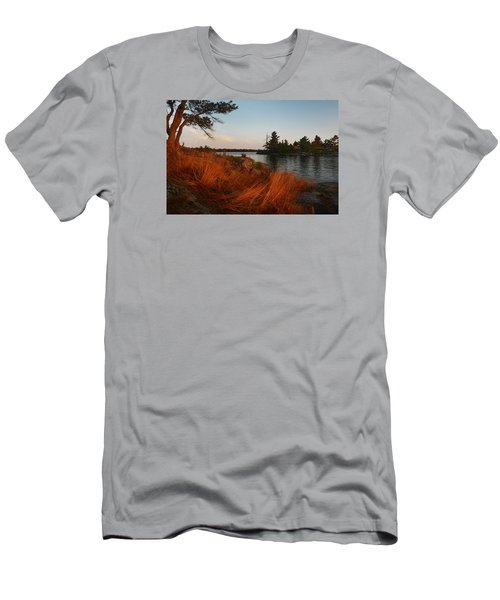 Red Wild Grass Georgian Bay Men's T-Shirt (Athletic Fit)