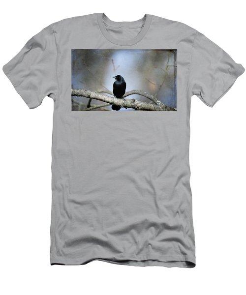 Red-winged Blackbird Men's T-Shirt (Slim Fit) by Diane Giurco