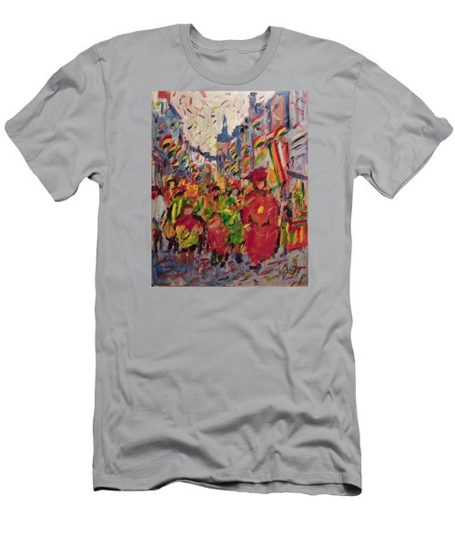 Red Yellow Green There They Come Vreug En Neugter Men's T-Shirt (Athletic Fit)