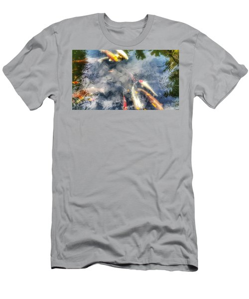 Reflections And Fish 4 Men's T-Shirt (Slim Fit) by Isabella F Abbie Shores FRSA