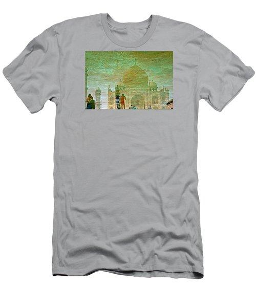 Reflections At The Taj Men's T-Shirt (Slim Fit) by Michael Cinnamond