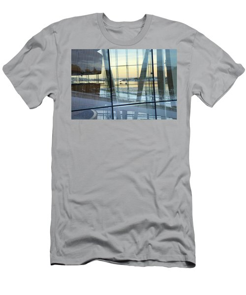 Men's T-Shirt (Athletic Fit) featuring the photograph Reflections Of Oslo by David Chandler