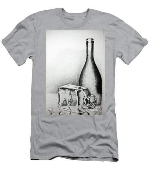 Men's T-Shirt (Slim Fit) featuring the drawing Reflections by Terri Mills