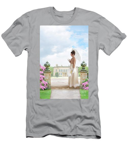 Regency Woman In The Grounds Of A Historic Mansion Men's T-Shirt (Athletic Fit)