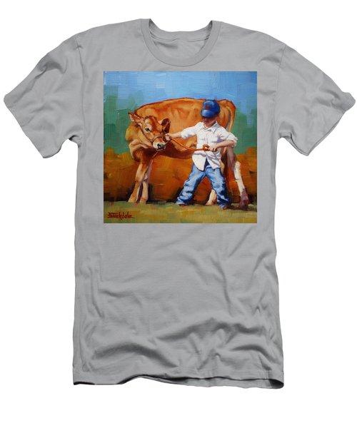 Reluctant Showgirl Men's T-Shirt (Slim Fit) by Margaret Stockdale
