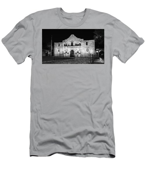 Remembering The Alamo - Black And White Men's T-Shirt (Slim Fit) by Stephen Stookey