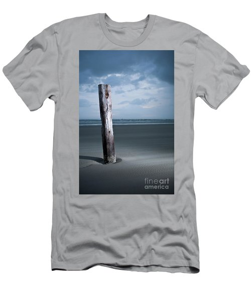 Men's T-Shirt (Slim Fit) featuring the photograph Remnant Of The Past On Outer Banks by Dan Carmichael