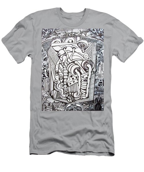 Men's T-Shirt (Slim Fit) featuring the drawing Rest In Peace Eternally - Marie Kalfala - Sierra Leone by Mudiama Kammoh