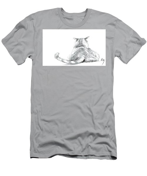 Resting Cat Men's T-Shirt (Athletic Fit)