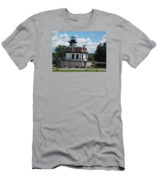 Restored Lighthouse Men's T-Shirt (Slim Fit) by Catherine Gagne