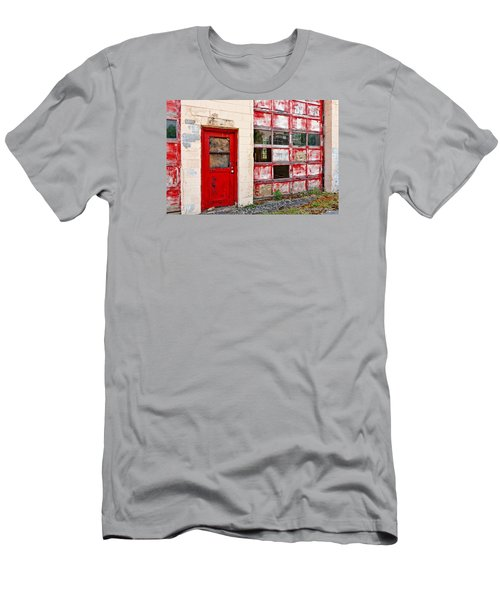 Men's T-Shirt (Slim Fit) featuring the photograph Retired Garage by Christopher Holmes