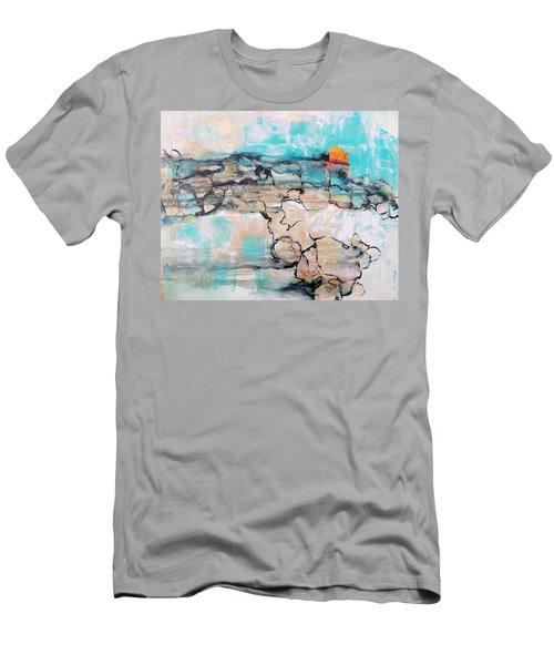 Men's T-Shirt (Slim Fit) featuring the painting Retreat by Mary Schiros