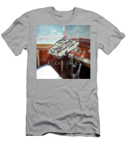 Retro Car Men's T-Shirt (Slim Fit) by La Reve Design