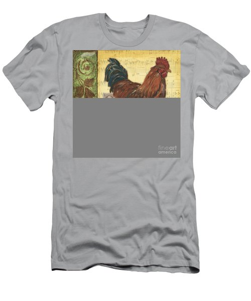 Retro Rooster 2 Men's T-Shirt (Athletic Fit)