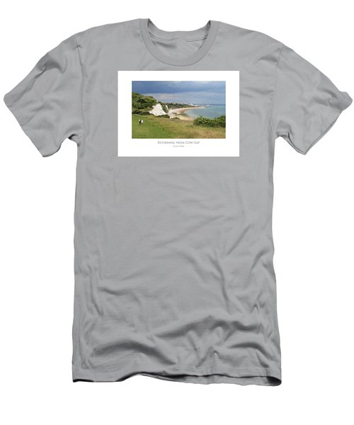 Men's T-Shirt (Athletic Fit) featuring the digital art Returning From Cow Gap by Julian Perry