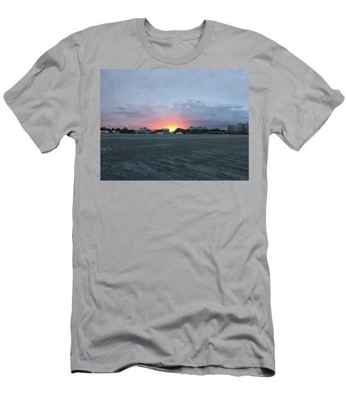 Revere Beach Sunset Men's T-Shirt (Athletic Fit)