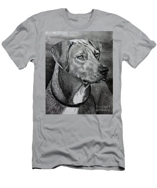 Men's T-Shirt (Slim Fit) featuring the drawing Rhodesian Ridgeback by Terri Mills