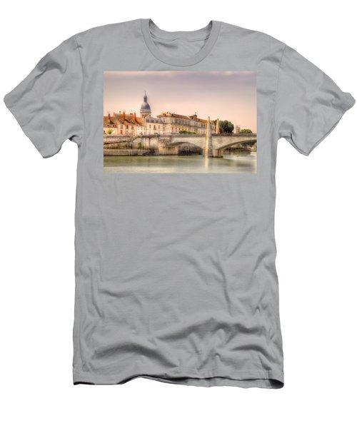 Bridge Over The Rhone River, France Men's T-Shirt (Athletic Fit)