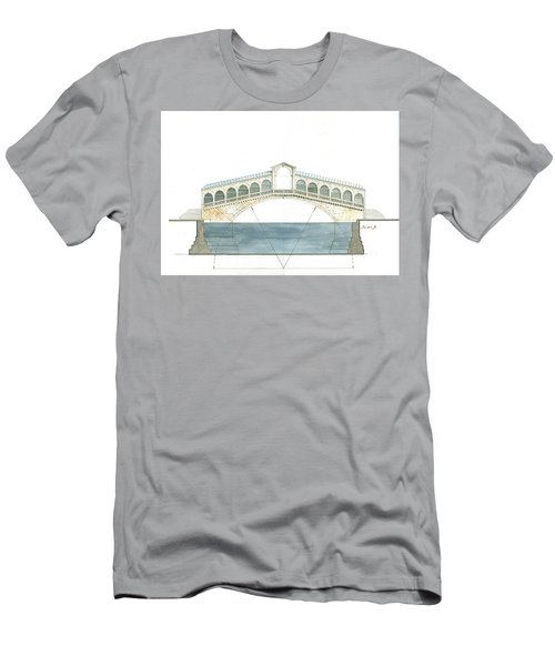 Rialto Bridge Venice Men's T-Shirt (Athletic Fit)
