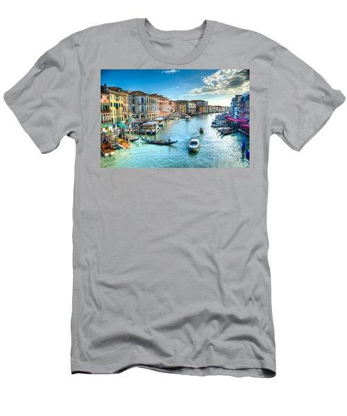 Rialto Bridge View Men's T-Shirt (Athletic Fit)