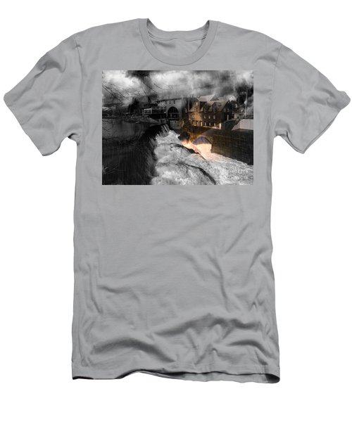 Rainbow In The Mist Men's T-Shirt (Slim Fit) by Sherman Perry