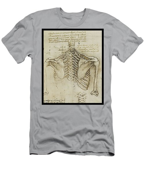 Men's T-Shirt (Slim Fit) featuring the painting Ribcage Main by James Christopher Hill