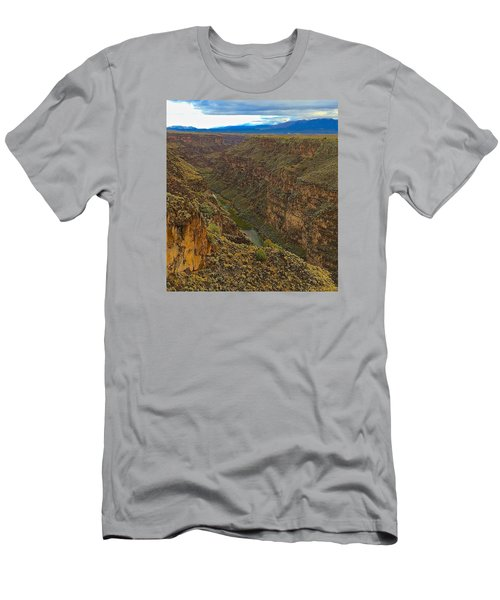 Men's T-Shirt (Slim Fit) featuring the photograph Rio Grande Gorge Just After Dawn by Brenda Pressnall
