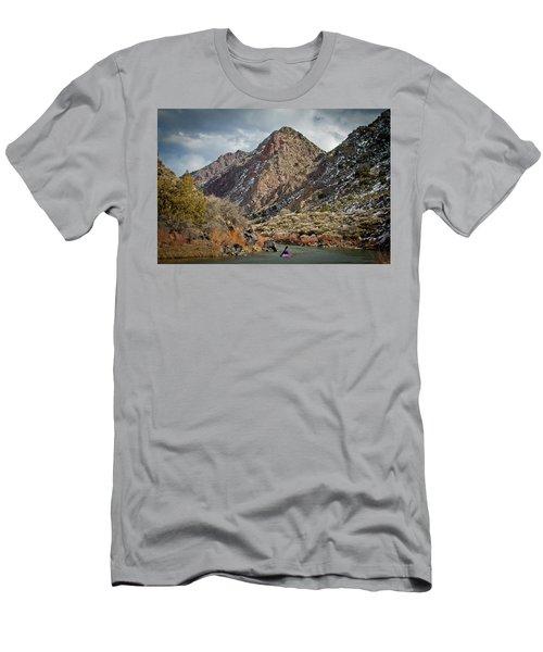 Rio Grande Racecourse In Winter Men's T-Shirt (Slim Fit) by Atom Crawford