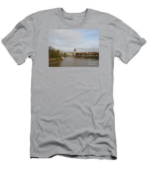 River Arrival To Libourne Men's T-Shirt (Athletic Fit)