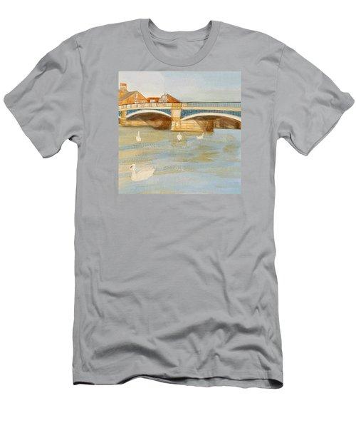 River At Royal Windsor Men's T-Shirt (Slim Fit) by Joanne Perkins