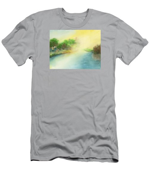 River Morning Men's T-Shirt (Slim Fit) by Frank Bright