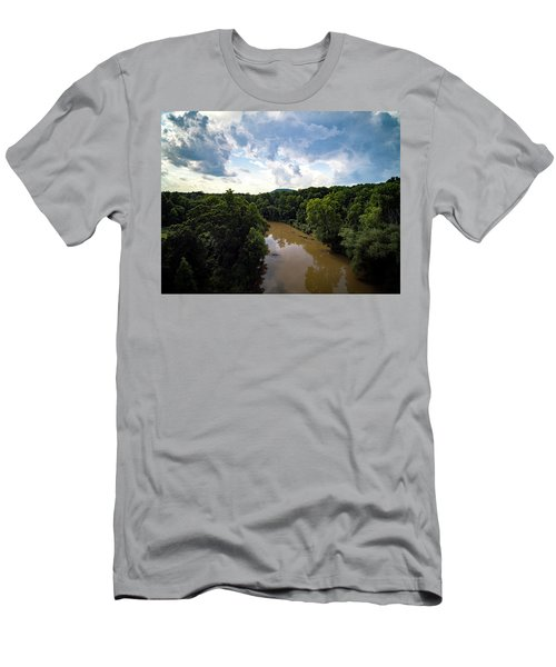 River View From Above Men's T-Shirt (Athletic Fit)