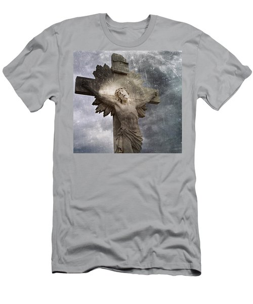 Riverside Cemetery Cross Men's T-Shirt (Athletic Fit)