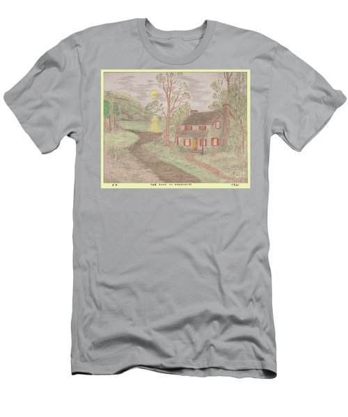 Road To Happiness Men's T-Shirt (Athletic Fit)