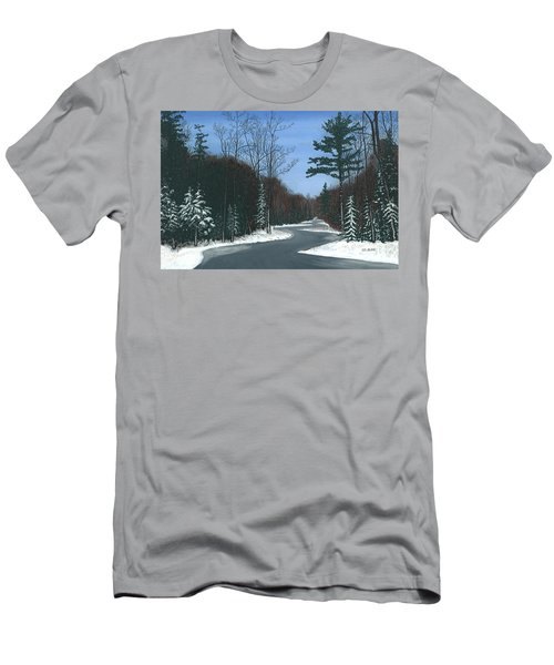 Road To Northport - Winter Men's T-Shirt (Athletic Fit)