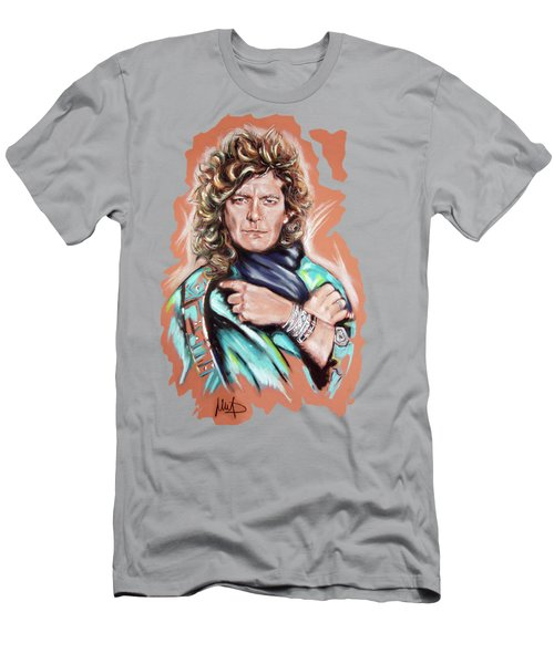 Robert Plant Men's T-Shirt (Slim Fit) by Melanie D