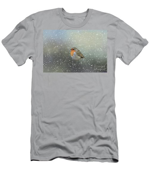 Robin In Winter Men's T-Shirt (Athletic Fit)