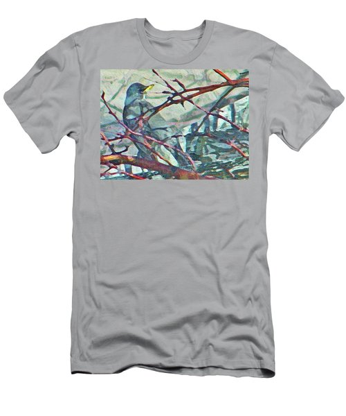 Robins Impression Of Spring Men's T-Shirt (Athletic Fit)