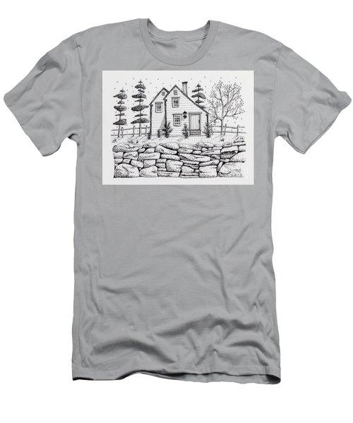Rock Fence Men's T-Shirt (Athletic Fit)