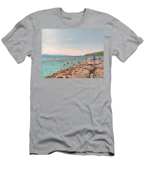 Rock Pool At Currarong Men's T-Shirt (Athletic Fit)