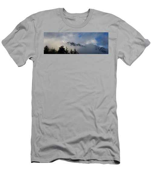 Rockies In The Clouds. Men's T-Shirt (Slim Fit) by Ellery Russell